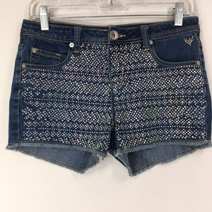 Justice 16R (Womens 28) Denim Jean Shorts Bling